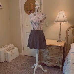 Black & White Striped Skater Skirt